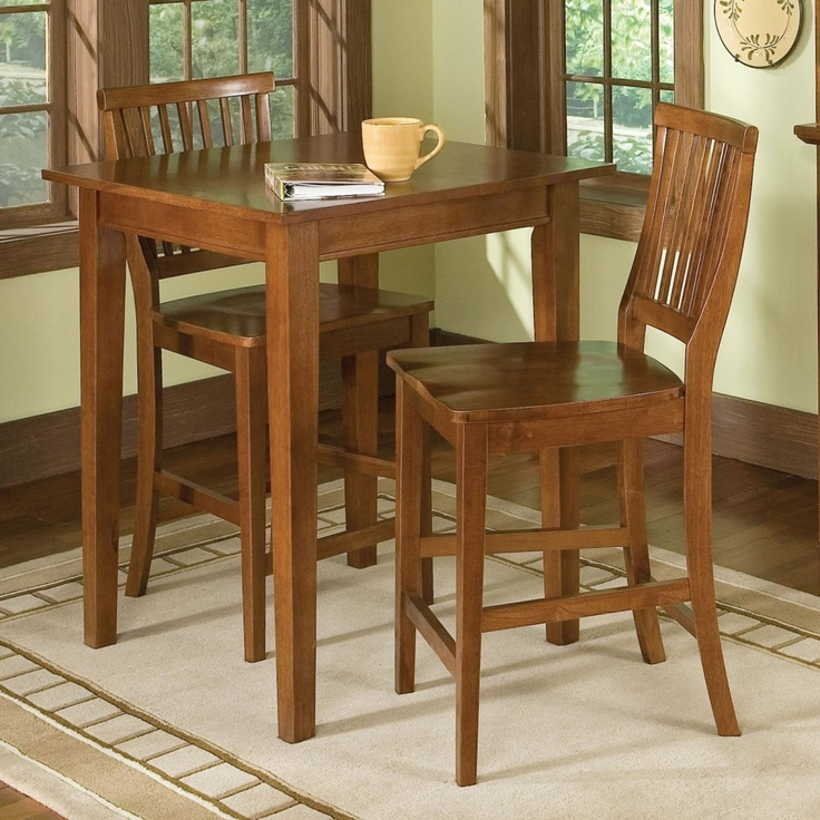 home styles arts and crafts bistro pub table with 2 bistro stools