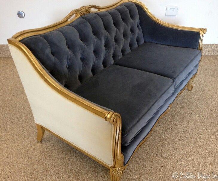 Beautiful grey vintage sofa