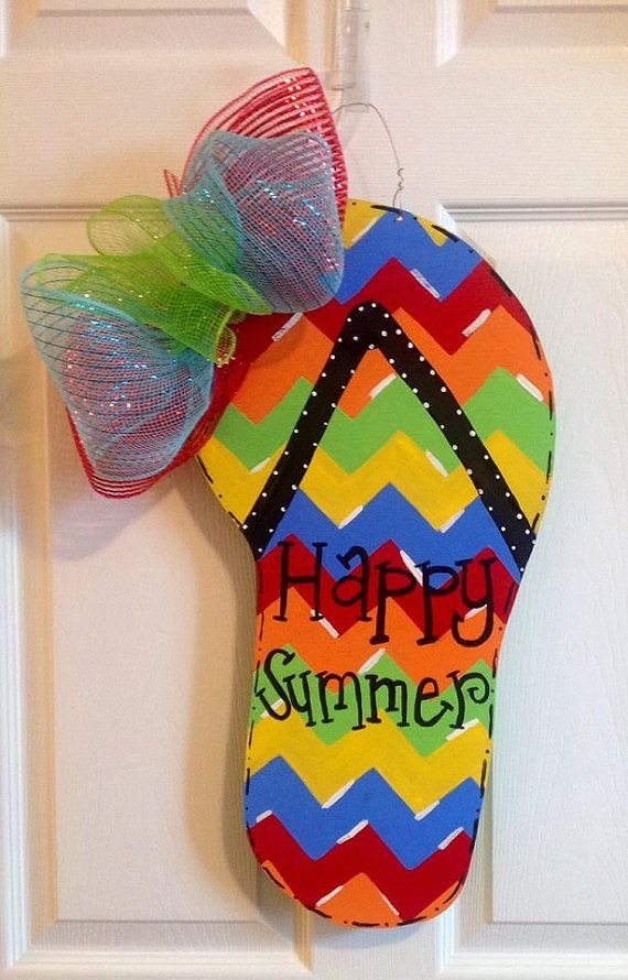 Flip+Flop+Door+Hanger+by+DesignsByJennaPayton+on+Etsy,+$37.50