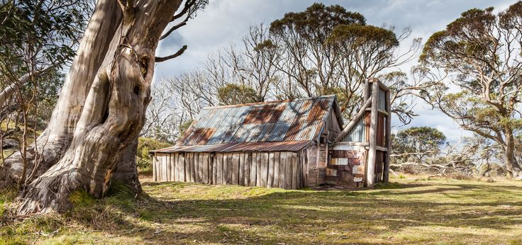 The famous Wallace's Hut, near Falls Creek, High Country, Victoria, Australia.