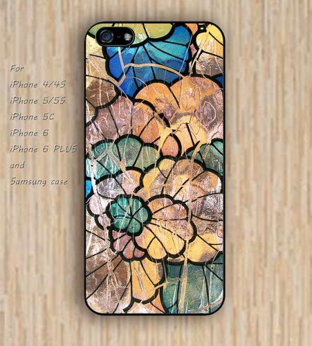iPhone 5s 6 case Ancient lotus lotus leaf pattern dream phone case iphone case,ipod case,samsung galaxy case available plastic rubber case waterproof B723