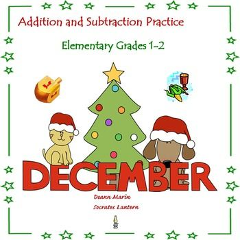 This December Holiday Bundle consists of addition and subtraction practice for Elementary grades 1-2, and Special Education classes.  It has colorful themes that represent Christmas, Chanukah and Kwanza.  What is inside:   Page 3……………….Addition Facts 2-4  Page 4……………….Addition Facts  5-7  Page 5……………….Addition Facts  8-10  Page 6……………….Subtraction Facts  2-4  Page 7……………….Subtraction Facts 5-7  Page 8……………….Subtraction Facts 8-10  Pages 9-14...............Answer Sheets