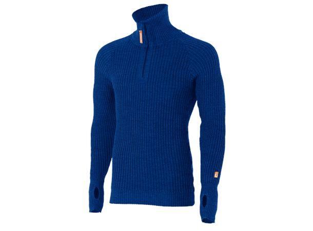 Lanullva Ullskjorte Kongeblå XXL Tykk Ull med tommelløsning - Vinje Ullvarefabrikk AS