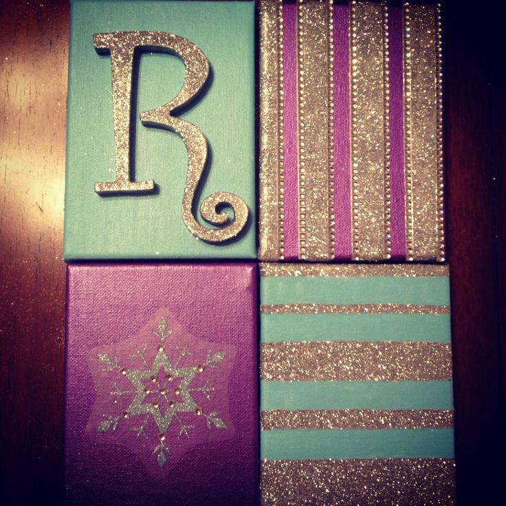 Frozen inspired wall canvases