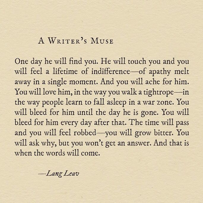 A Writer's Muse by Lang Leav