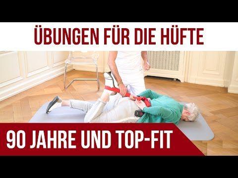 Übungen bei Hüftschmerzen / Hüftarthrose   90 Jahre und Top-Fit   Liebscher & Bracht - YouTube