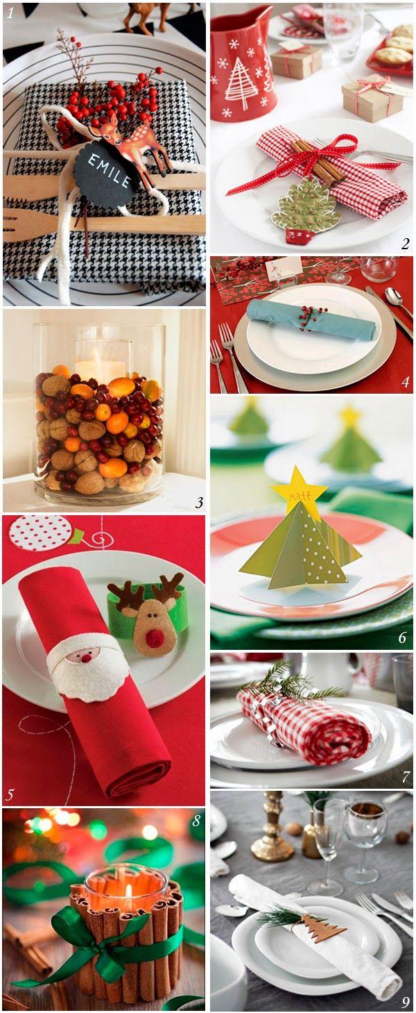 Ideas muy originales para decorar tu mesa en estas fiestas.