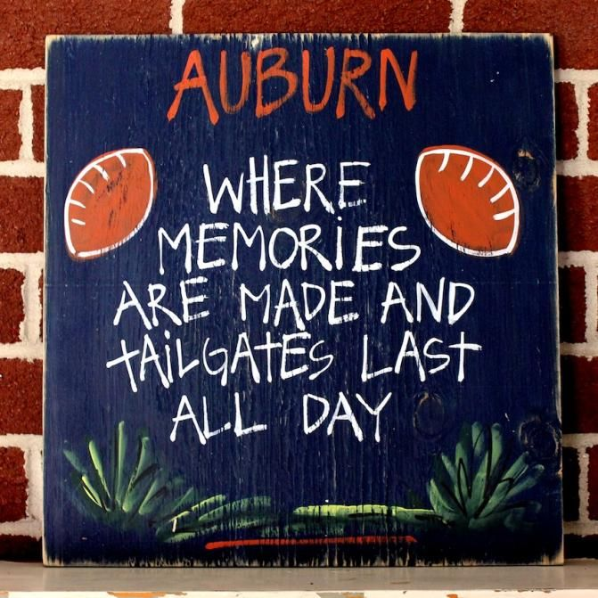 """College Tailgating Signs. """"Where Memories Are Made and Tailgates Last All Day!""""  BourbonandBoots.com"""
