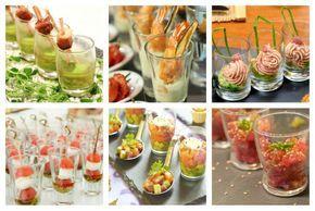 Visita: https://clairessugar.blogspot.com.es/ para recetas paso a paso con vídeos divertidos y fáciles!  ^^ 10 aperitivos salados para servir en vasitos de vidrio - IMuje