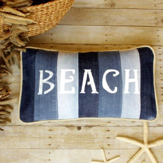 Got some old unused jeans in your stash? Give them a new stylish life for your Summer decor!