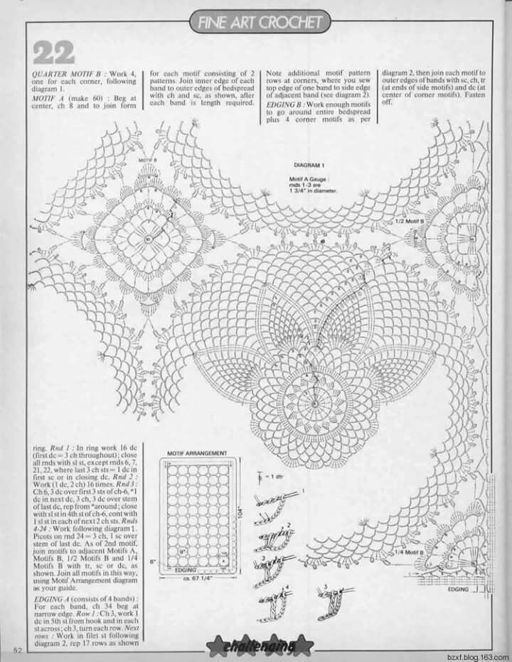 Mejores 1267 imágenes de Crochet 9 en Pinterest   Patrones de ...