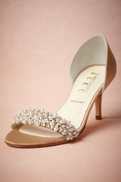 Oyster Bed d'Orsays in Bride Bridal Shoes at BHLDN