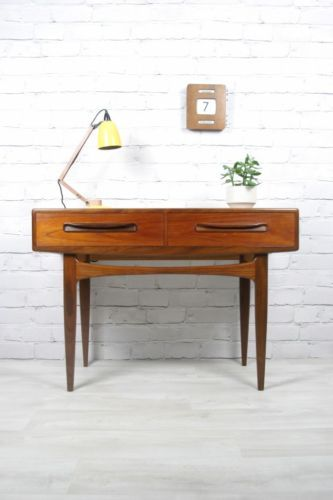 Vintage G-Plan console table.  http://www.ebay.co.uk/itm/G-PLAN-RETRO-VINTAGE-TEAK-FRESCO-MIDCENTURY-CONSOLE-TABLE-DESK-1950s-60s-70s-/230743698115?pt=UK_Antiques_AntiqueFurniture_SM&hash=item35b9656ac3  https://www.facebook.com/mustardvintage
