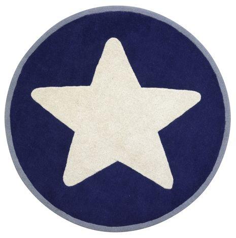 Kids Concept, Star, Ullmatta, Stor stjärna, Blå