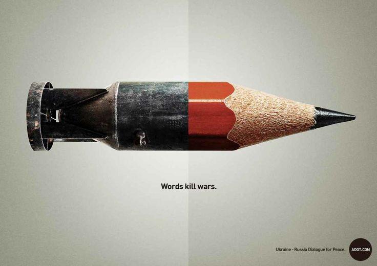 Words kill wars : La nouvelle campagne d'Ogilvy & Mather