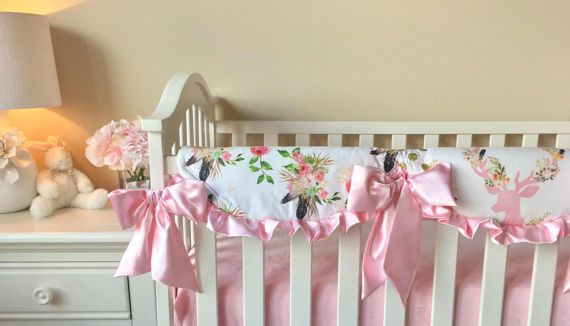 In Stock and Ready to Ship Boho Crib Rail by RitzyBabyOriginal