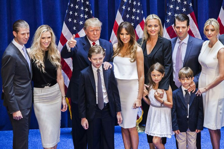 NEW YORK, NY - JUNE 16: (L-R) Eric Trump, Lara Yunaska Trump, Donald Trump…