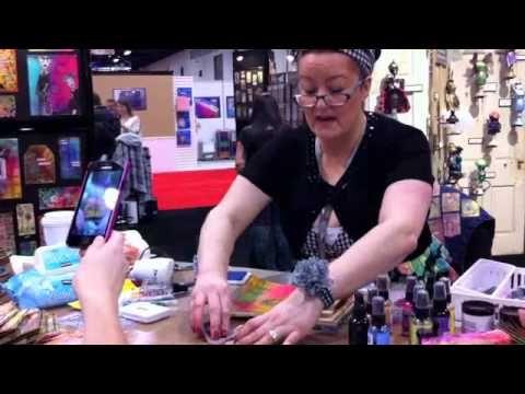 Dyan Reavely Art Journaling at CHA Winter 2012 Ranger Booth