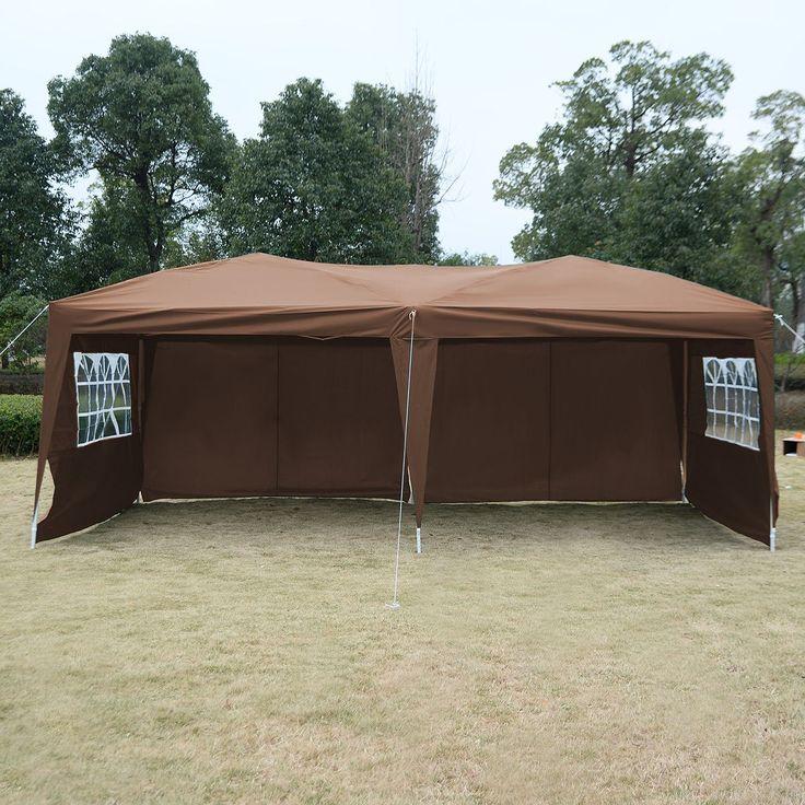 ez pop up tent gazebo wedding party folding canopy carry bag cross