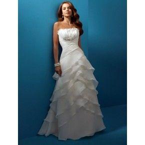 Strapless White Popular Wedding Dress