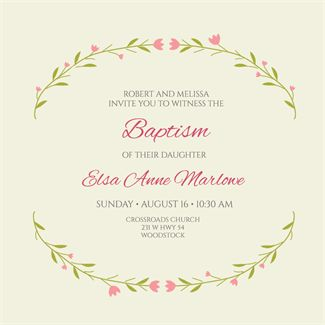 """""""Stylized Stems""""  printable invitation template. Customize, add text and photos. Print or download for free!"""
