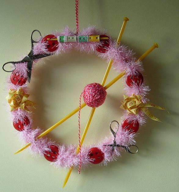 Vintage Haberdashery Themed Wreath from Maximum Rabbit Designs: Crafts Yarns, Artworks Ideas, Christmas Crafts, Art Crafts, Ideas Changing, Crafts Ideas, Cute Ideas, Cool Ideas, Great Ideas