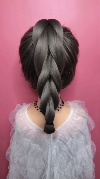 Braided hairstyle for long hair video tutorial simple and beautiful#beautiful #braided #hair #hairstyle #long #simple #tutorial #video