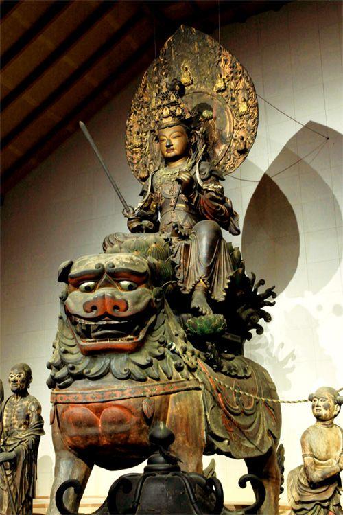 渡海文殊...快慶 作(安倍文殊院)Manjusri crossing the sea by Kaikei [ Abe Monju-in ] 1203