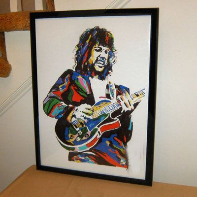 Steve Gaines, Lynyrd Skynyrd, Guitar, Southern Rock Guitarist   Abstract CANVAS art --TOP ART OIL painting--36 inches