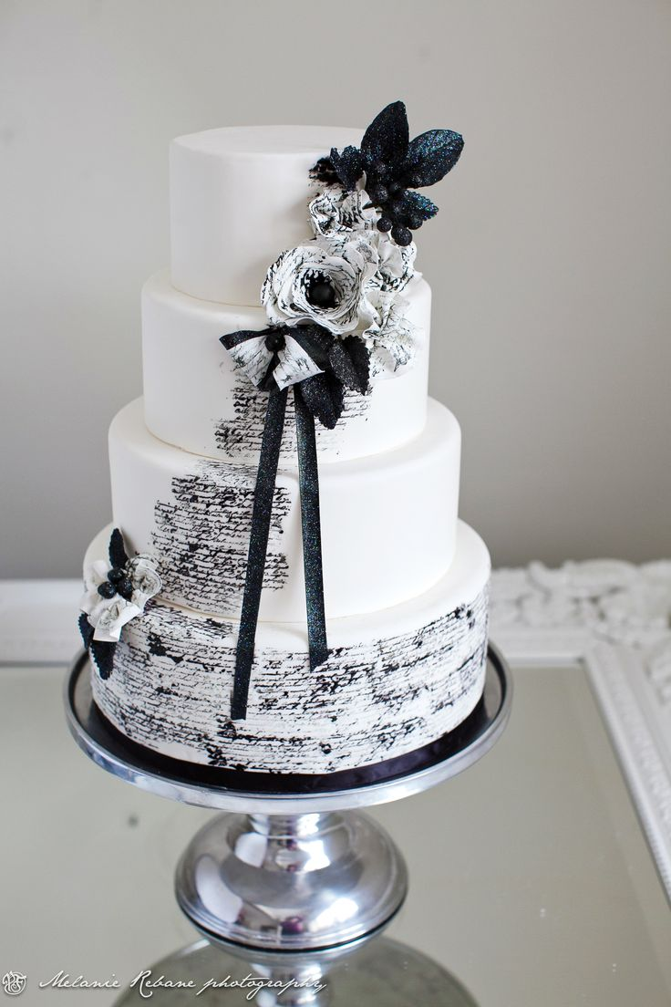 Tarta boda blanco y negro