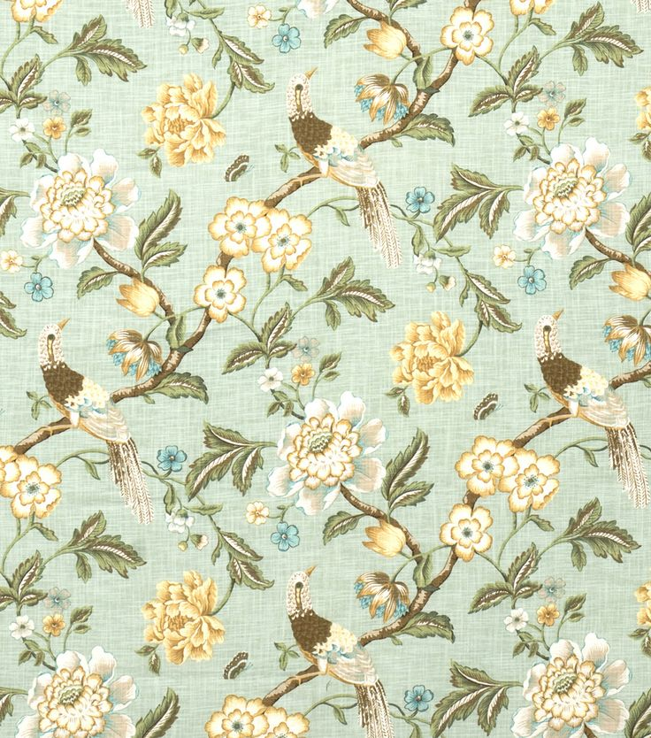 fabric decor france smith jaclyn spa joann printed fabrics prints french cotton birds botanical printing ann jo joanns curtains