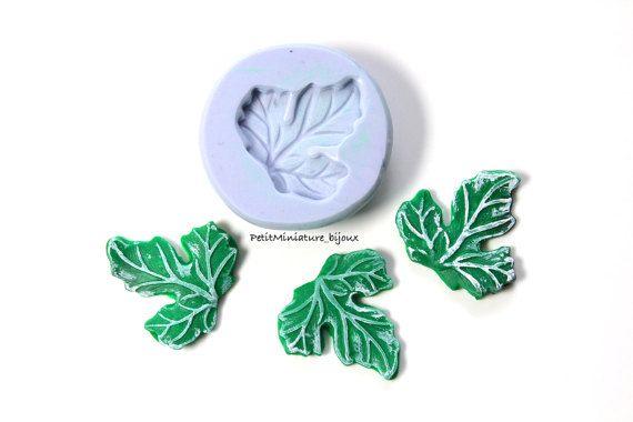 Stampo silicone flessibile Foglia gioielli di PetitMiniatures
