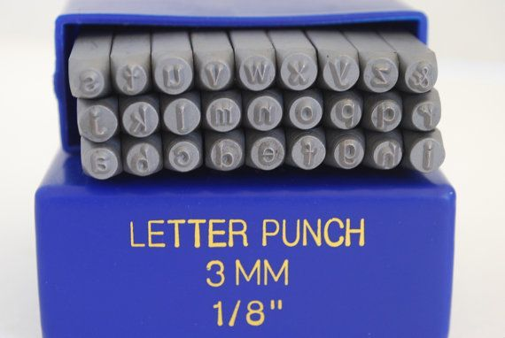 New-Arial Font- 3 mm  LOWERCASE- Rare- Letter Set-Metal Stamp Set-Great Inexpensive Tool for Your Shop and Stamping Needs. $25.99, via Etsy.