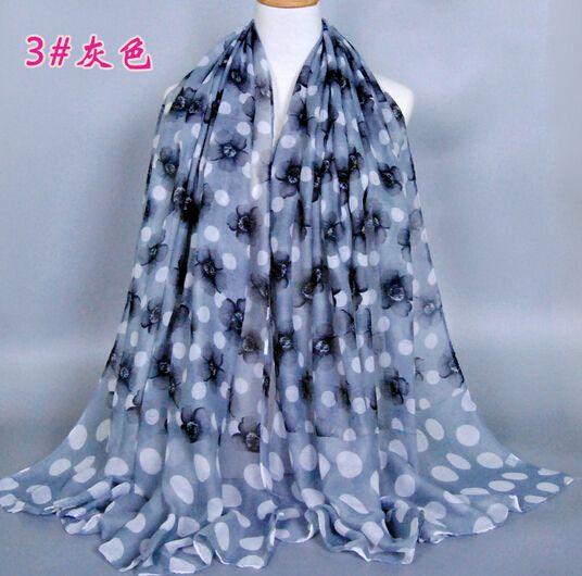 maxi print scarf headscarf shawl big scarf small flowers elegant 180*90cm hijab large shawl 7 colors 10pc/lot