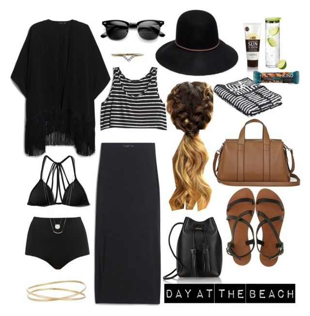 """Beach day"" by karleighrempel on Polyvore featuring Tom Ford, Maison Margiela, Joie A La Plage, Abercrombie & Fitch, Topshop, Lane Bryant, Wrong for Hay, Lavanila, blomus and Diamonds Unleashed"
