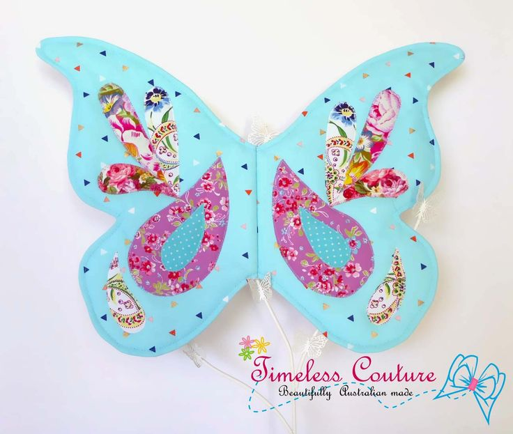 """Butterfly wings  It is made out of soft cotton and embellished with colourful prints. And will be for sale at the """"UPpity Christmas market"""" hosted by Limo Craft"""