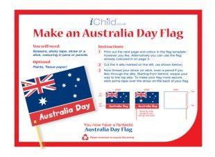 Make this fantastic Australian flag craft to celebrate Australia Day! iChild.co.uk