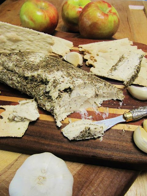 Vegan Aged Nut Cheese with Herbs