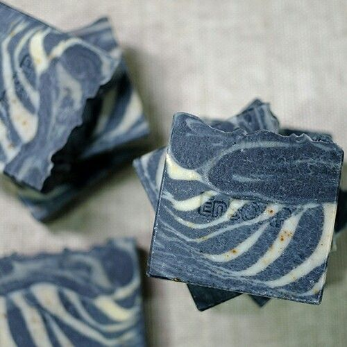 charcoal & green clay soap