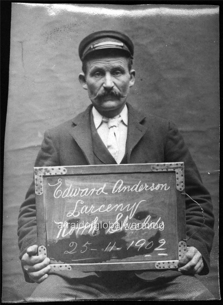 Photo. 1900s. UK. Prisoner - Man Arested - Edward Anderson ...