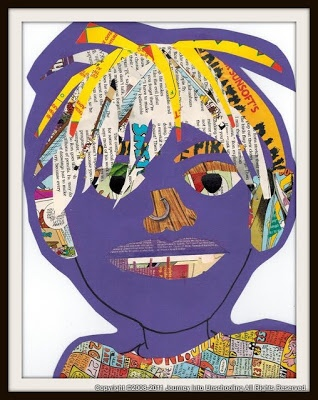 August 2011 Art Gallery :: Collage Portraits | Journey Into Unschooling