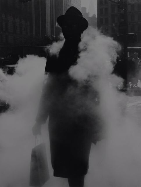ARTHUR TRESS, Man in steam, NY, 1968