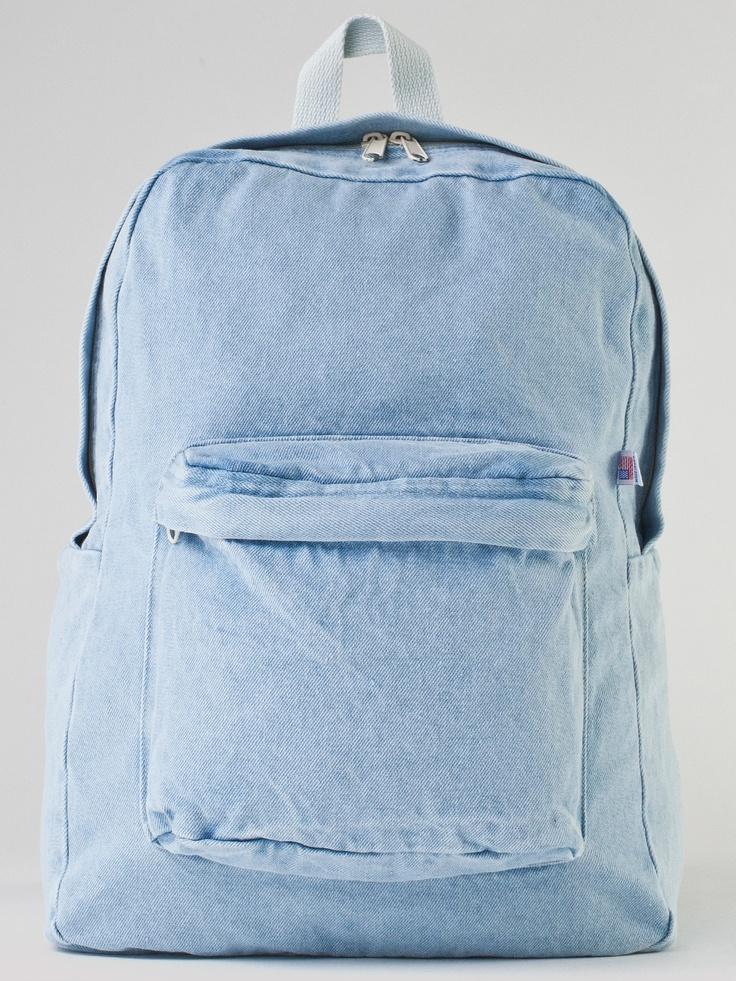 Denim School Bag | Backpacks | Accessories' Bags & Wallets | American Apparel