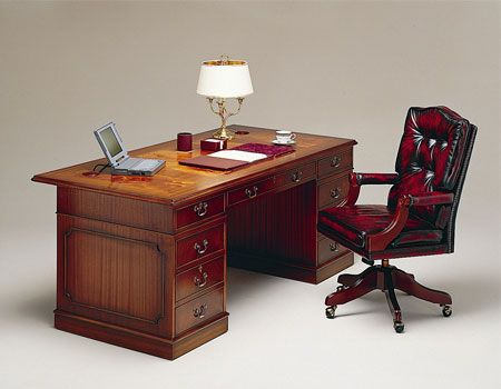 Beautiful antique wooden desk with antique leather chair. - 10 Best Antique Wooden Desks Images On Pinterest DIY, Antique