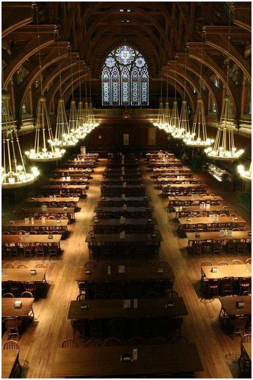 2. Large Great Halls for people to come together and eat or just gather to engage in conversation with others.