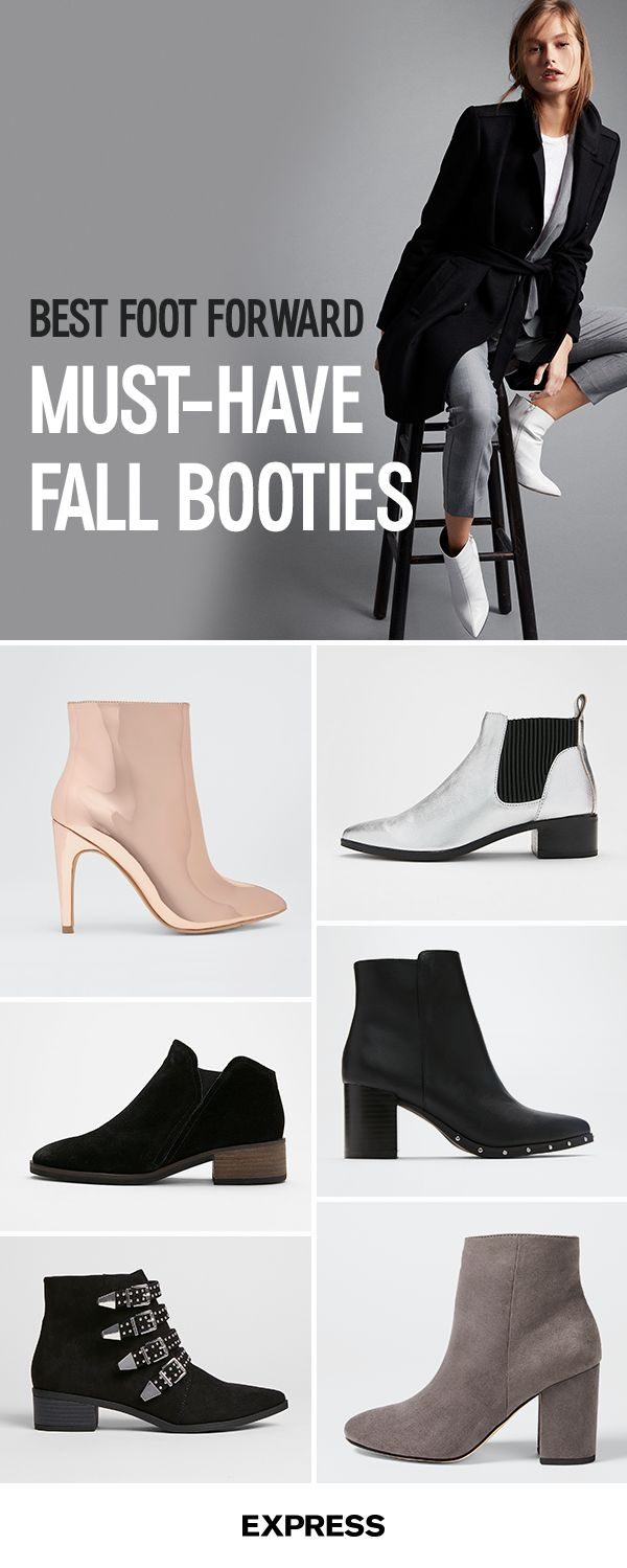 A go to pair of booties is a must for any outfit when the temperatures start to drop. Classic, walkable and versatileÑthey're a the go to match with any denim, but look great with dresses and skirts, too. Find your new favorites at Express.com today.