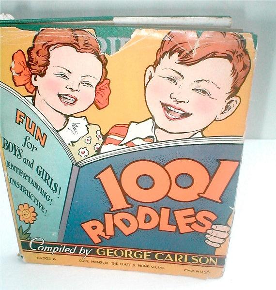 Vintage 50s Childrens Joke Book  1001 Riddles by studiostebbylee
