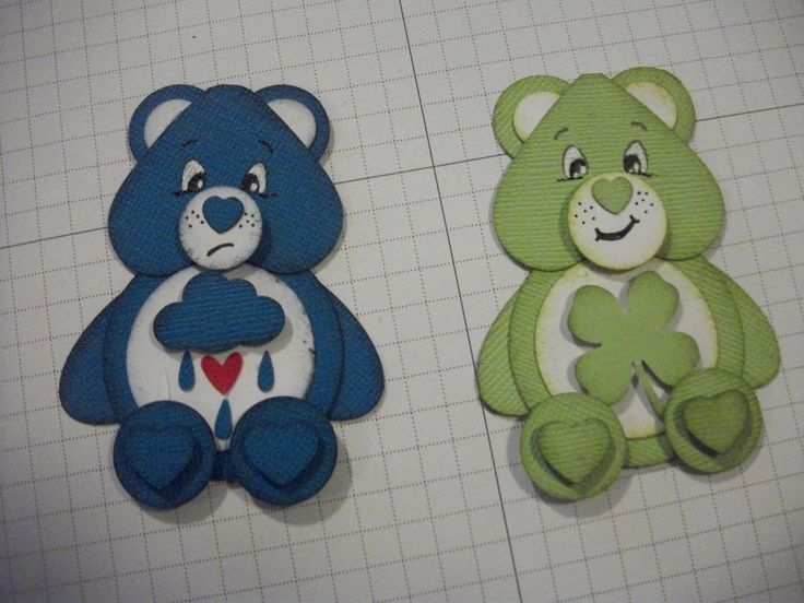 care bears punch art using su punches and other punches Stampin' Up!