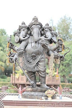 Five headed statue of Ganesha