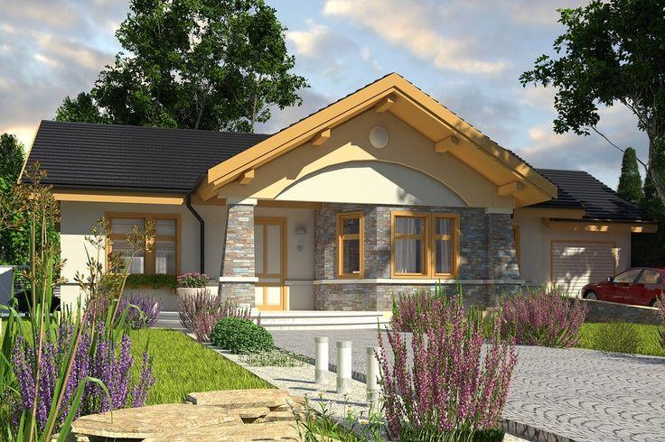 Casă de vis modernă cu influente rustice si o suprafată de 94 m²